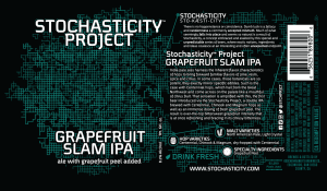 The label on The Stochasticity Project's Grapefruit Slam IPA.