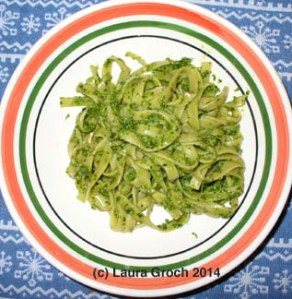cilantro pesto, pasta