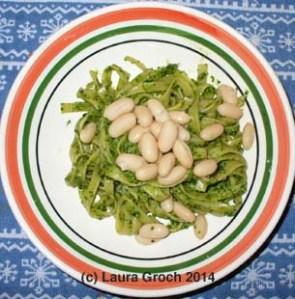 pesto, cilantro pesto, cannellini beans