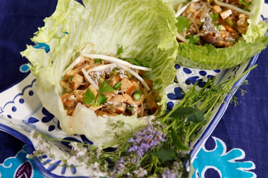 Tofu Lettuce Tacos With Cilantro And Mint